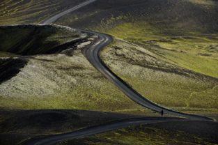 Wanderer im Veidivötn, Island