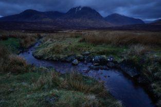 Nacht im Glen Coe, Schottland
