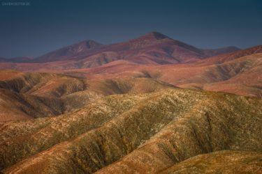 Bunte Berge bei Betancuria, Fuerteventura, Kanaren, Spanien