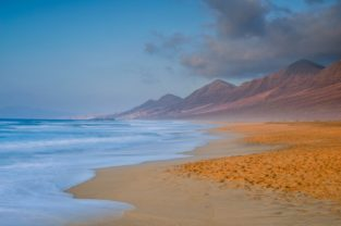Strand Playa Cofete, Barlovento, Fuerteventura, Kanaren, Spanien