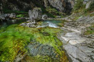 Rio Cares, Picos de Europa, Asturien, Spanien