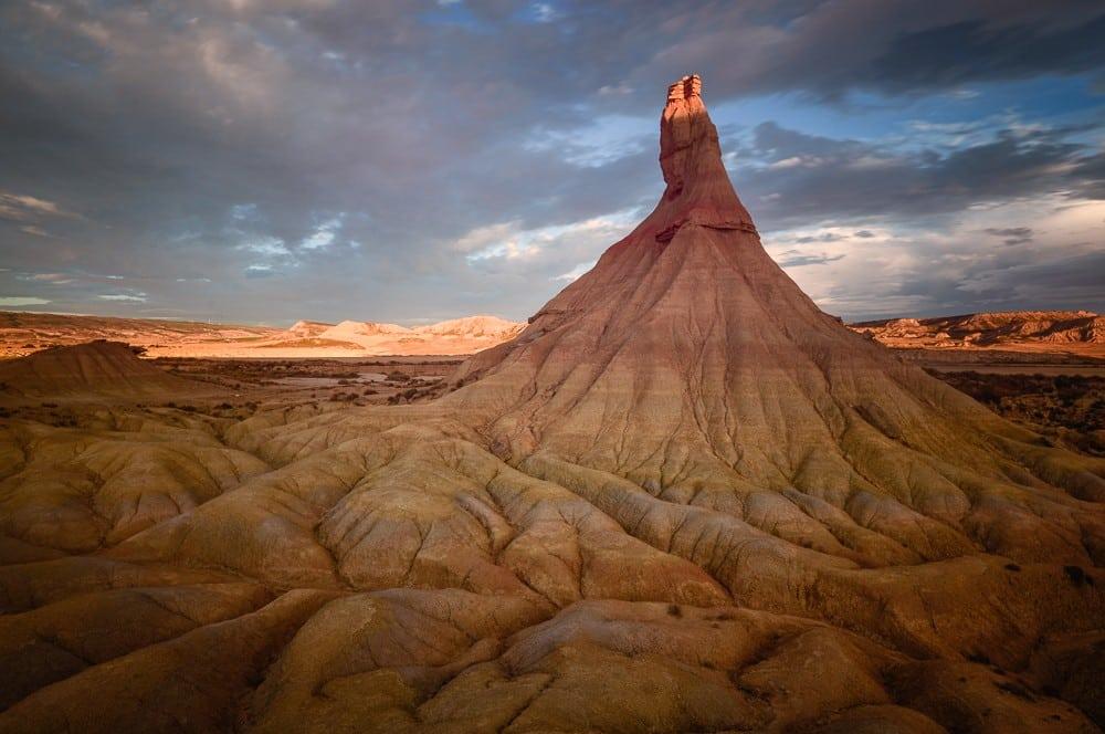 Bardenas Reales, Wüstenlandschaft in Navarra, Spanien