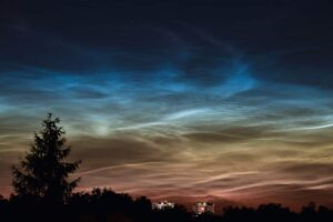 Nachtleuchtende Nachtwolken (noctilucent clouds), Deutschland