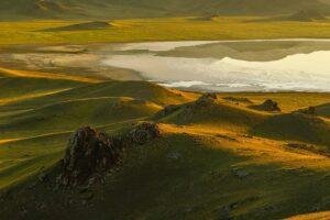 Sonnenaufgang im Tien Shan, Kasachstan