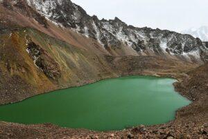 Gletschersee, Shymbulak-Gletscher, Kasachstan