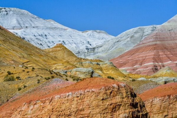 Weiße Berge von Aktau, Altyn Emel, Kasachstan