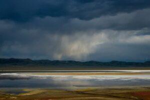Gewitter in der Steppe, Tien Shan, Kasachstan