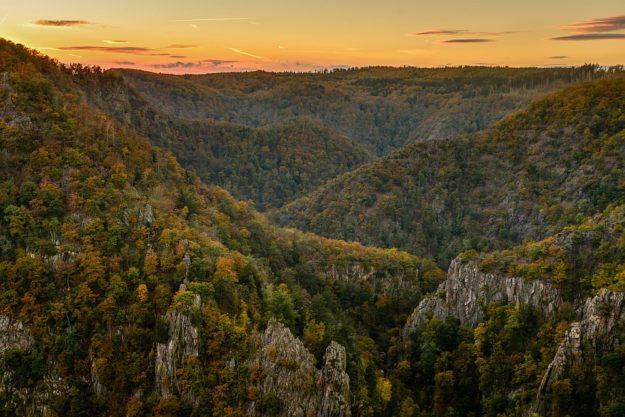 Roßtrappe, Blick ins Bodetal, Thale, Harz, Sachsen-Anhalt