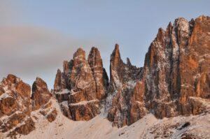 Felstürme des Rosengarten-Massivs (Catinaccio), Südtirol, Italien