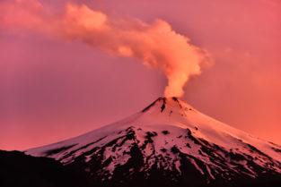 Vulkan Villarica, Pucon, Region Araucanía, Patagonien, Chile
