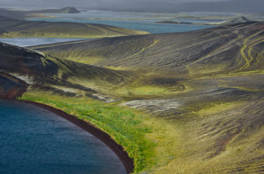 Landschaft aus Kraterseen, Veidivötn, Island