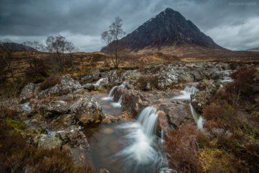 Schottland # 1 - Wasserfall und Buachaille Etive Mòr