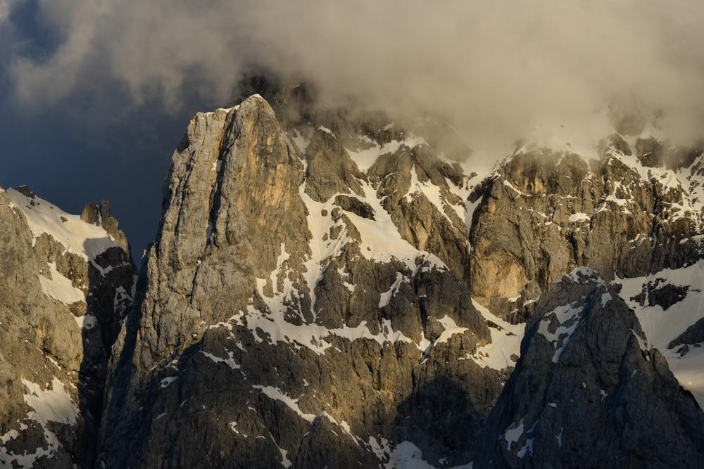 Nordwand des Triglav, Julische Alpen, Slowenien