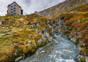 Franz Senn Hütte, Stubaier Alpen, Tirol, Österreich