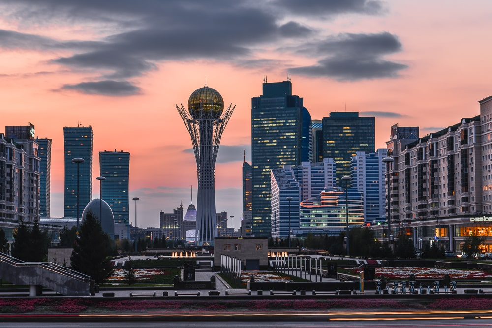 Skyline von Astana, Kasachstan