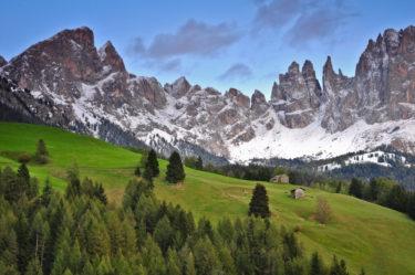 Hochalm vor Rosengartenmassiv, Tiers, Südtirol, Italien