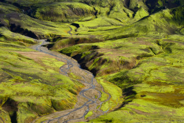 Berglandschaft, Island