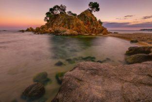 Strand bei Platja d´oro, Costa Brava, Spanien