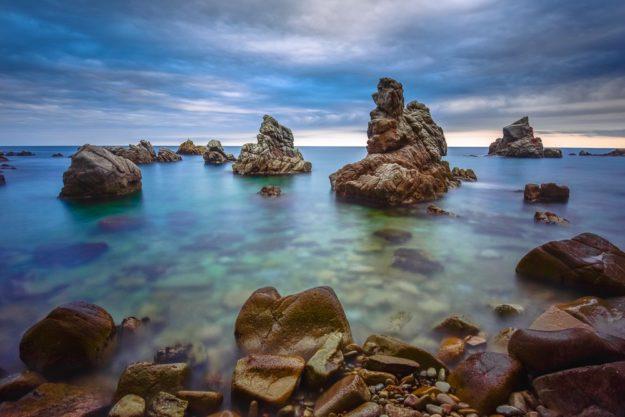 Küste bei Lloret de Mar, Costa Brava, Katalonien, Spanien