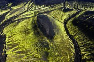 Moosbewachsene Vulkanlandschaft, Veidivötn, Island