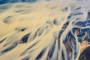 Mäander eines Flusses, Island