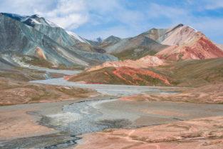 Tadschikistan, Flusstal am Ak-Baital-Pass, Pamir-Highway