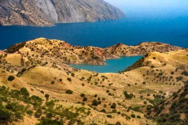 Nurek See, Tadschikistan, Asien