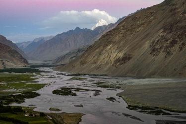 Mäander des Flusses Panj, Pamir, Hindukusch, Tadschikistan, Afghanistan