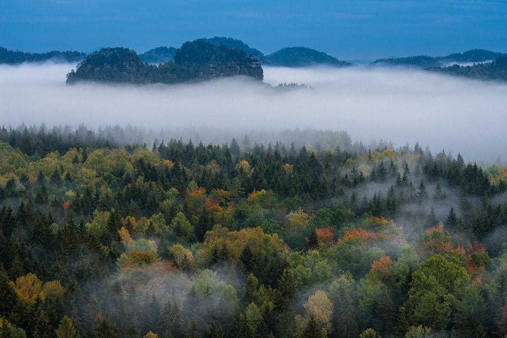 Deutschland - Herbstfarben und Nebel, Sächsische Schweiz