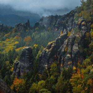 Schrammsteine, Elbsandsteingebirge, Sächsische Schweiz, Sachsen