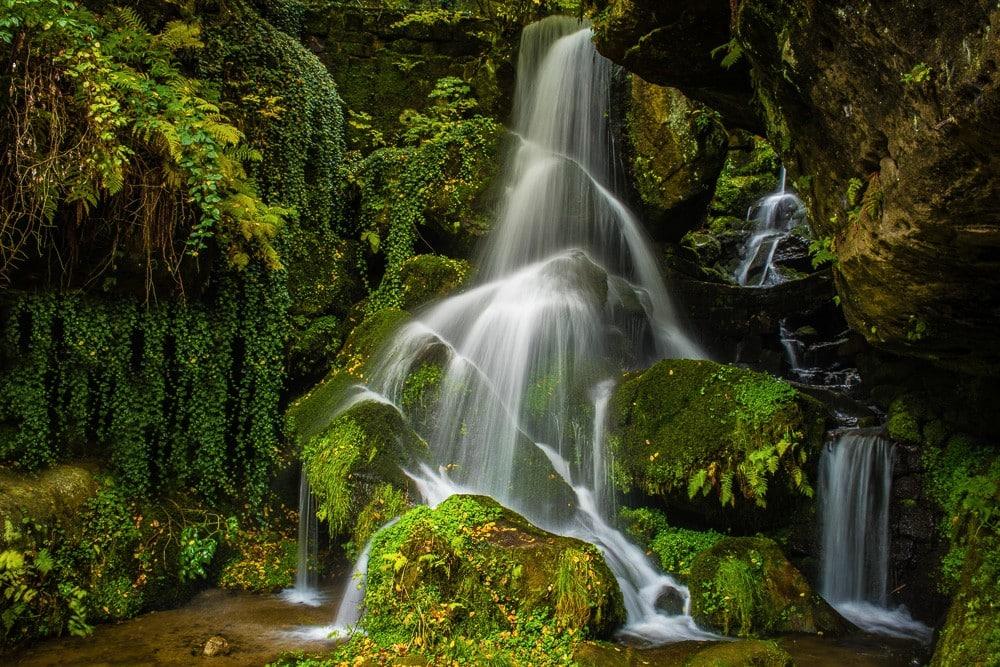 Lichtenhainer Wasserfall, Kirnitzschtal, Elbsandsteingebirge, Sächsische Schweiz, Sachsen, Deutschland