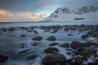 Lofoten 025 | Unstad Beach, Vestvågøy Norwegen, Winter, Landschaftsfotografie, Bilder, Fotos, Landschaften