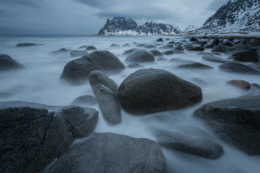Lofoten 009 | Strand Utakleiv Beach, Vestvågøy | Norwegen, Landschaftsfotografie, Bilder, Fotos, Landschaften, Winter