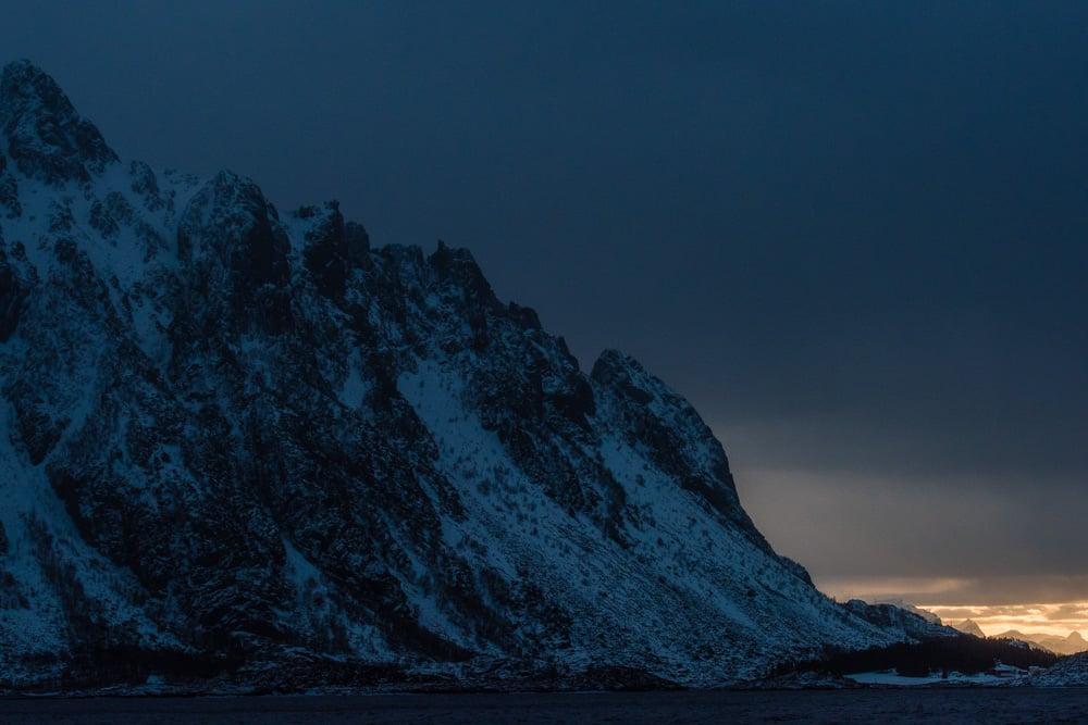 Lofoten 016   Trollfjord im Winter, Norwegen