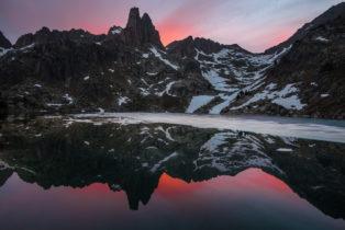 Landschaftsfotografie, Aigüestortes i Estany de Sant Maurici Nationalpark, Agulles d'Amitges, Katalonien, Pyrenäen, Spanien