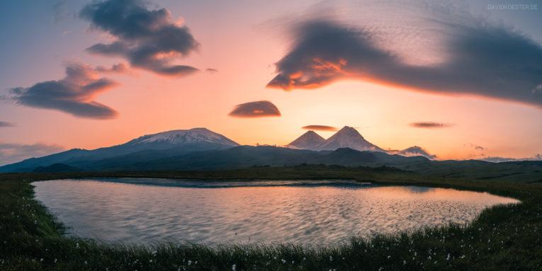 Panorama - Vulkane auf Kamtschatka, Russland