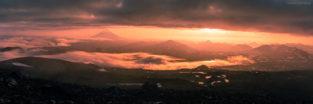 Panorama - Vulkan KlyuchevskayaSopka, Kamtschatka