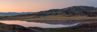 Panorama - Salzsee im Tien Shan, Kasachstan