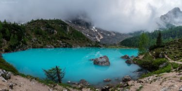 Panorama - Lago di Sorapis, Dolomiten