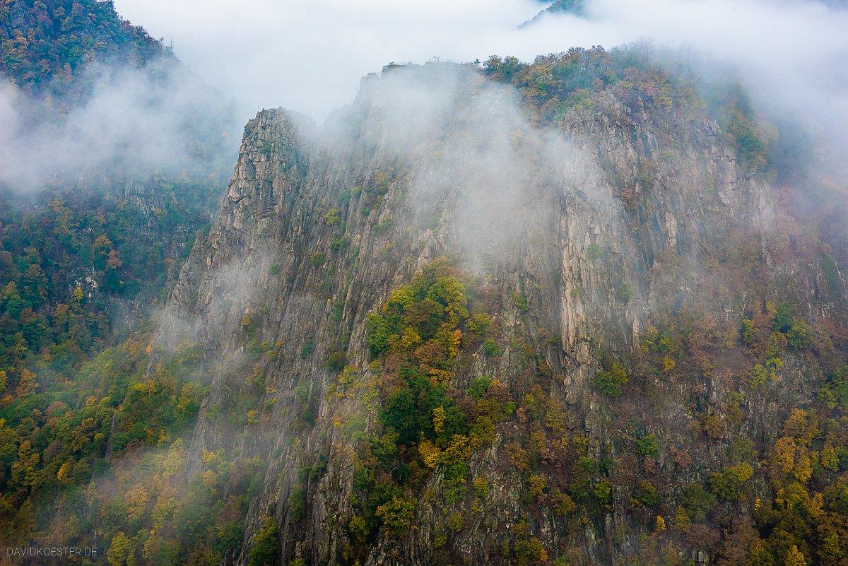 Deutschland - Rosstrappe im Nebel, Harz