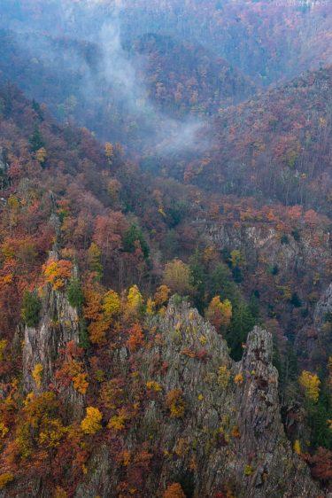 Deutschland - Herbstlicher Blick von der Rosstrappe