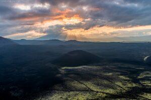 Kamtschatka Landschaft: Surreale Vulkanlandschaft mit fluoreszierenden Moosen
