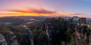 Deutschland #25 - Panorama Bastei, Elbsandsteingebirge