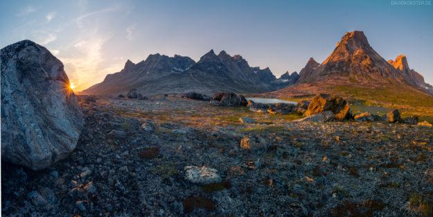 Grönland #25 - Panorama Tundra und Berge
