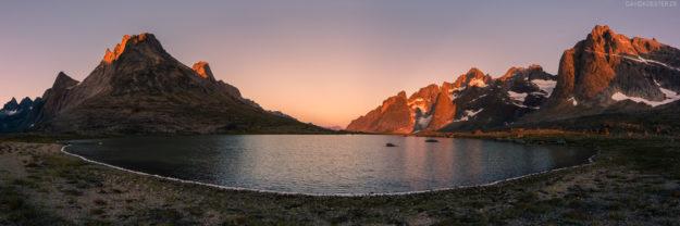Grönland #20 - Panorama einer Bergkulisse im Tasermiut Fjord