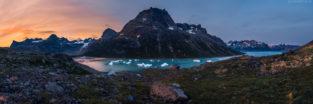 Grönland #21 - Panorama Gletscher und Fjord, Tasermiut Fjord