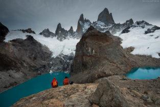 Patagonien: Wandern im NP Los Glaciares, Blick auf Fitz Roy, Laguna de los tres und Laguna sucia, Argentinien