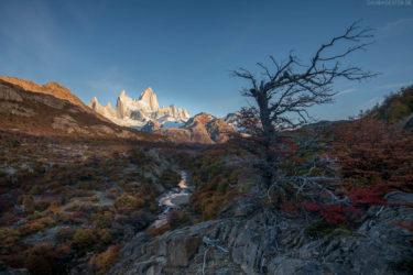Patagonien: Sonnenaufgang im Herbst am Fitz Roy, Argentinien