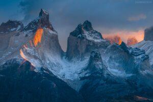Patagonien Bilder: Landschaft mit Paine Massiv im Torres del Paine Nationalpark, Chile