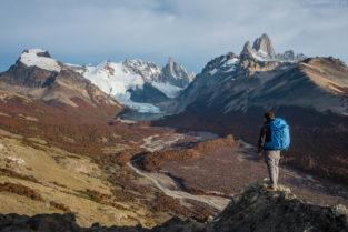 Patagonien: Wandern mit Blick auf Fitz Roy und Cerre Torre, Los Glaciares, Argentinien